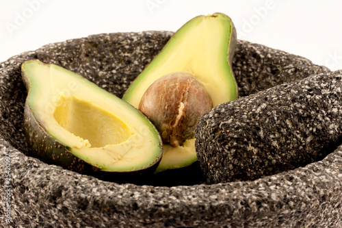 Avocado in Molcajete
