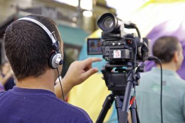 Camarógrafo trabajando