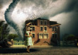 tornado and little girl
