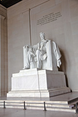 Statue of Abraham Lincoln at the Lincoln Memorial