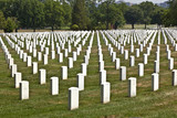 Headstones at the Arlington national Cemetery poster