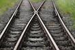 Schienen-Kreuzung