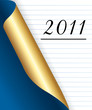2011 New year Blue and golden page background