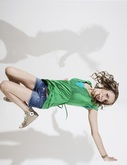 Deutschland, Frau jung Breakdance