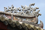 ancient art on roof of The Imperial Enclosure of Hue City poster