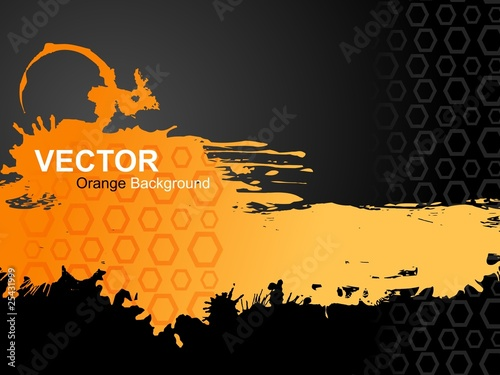 Vector Orange Background