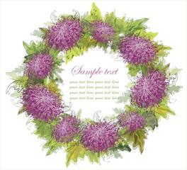 Decorative framework. Chrysanthemum.