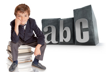Schoolboy and ABC