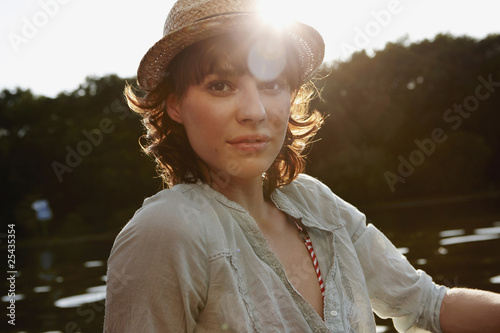 germany, berlin, portrait of a young woman, close-up