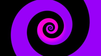 Spinning colorful hypnotic logarithmic spiral loop