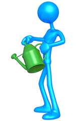 Holding A Watering Can