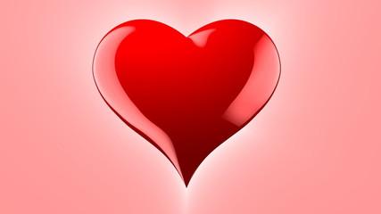3d Red Heart shape