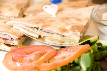 mediterranean sandwich in Limassol Cyprus with pita bread