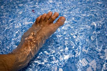 Fuß im Wasser
