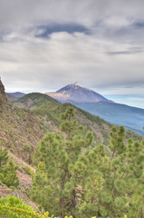 Teide Mount as seen  from Ayosa, Tenerife Island