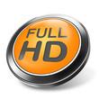 3d button full HD orange
