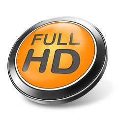 3d button full HD orange