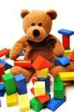 Fototapety Teddy und die Bausteine