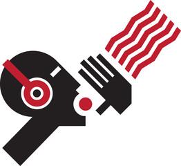 Loud voice - Soviet Constructivism stylization