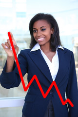 Woman Making Graph Chart