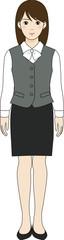 制服の女性会社員