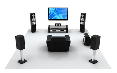 Audio and video room, view front