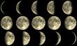 Mondphasen - gelb