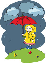 Pretty girl with an Umbrella