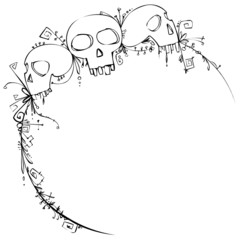 Halloween vignette with skulls