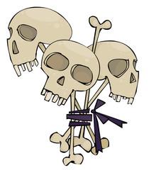 Halloween bouquet with skulls
