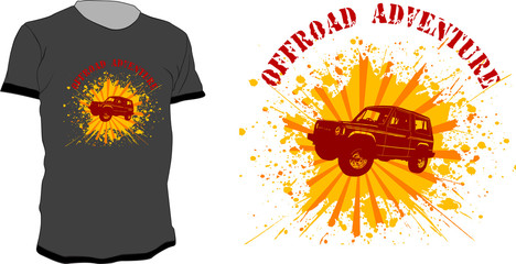 T-shirt vector design  - Offroad Adventure