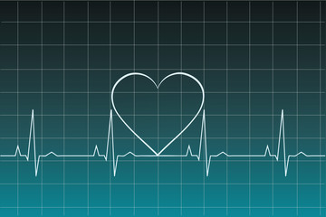 Ekg heart beat