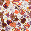 roleta: Floral seamless pattern in retro style