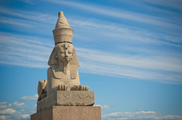 Egyptian sphinx, Saint Petersburg, Russia