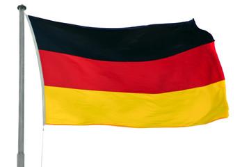 German flag on pole