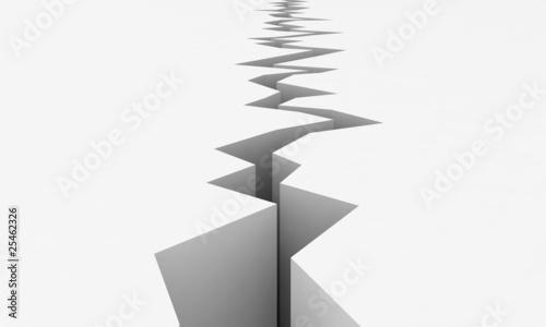 Leinwandbild Motiv Earthquake