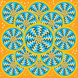 Zigzag Spin Disks  (motion illusion) poster