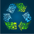 Eco recycle icons