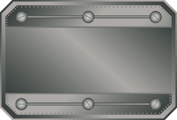Empty vector metal plate