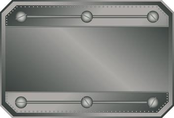Empty vector metal plate