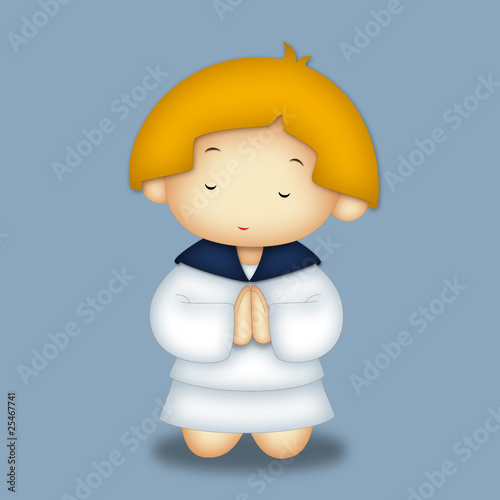 Praying Girl Portrait