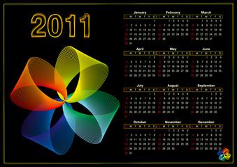 2011 vector calendar on abstract background