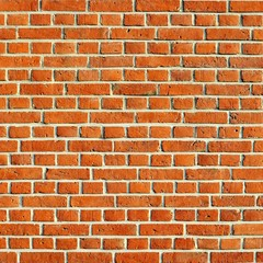 Red brick wall square format