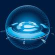 Fantasy Space Navigation Sphere. Vector Illustration