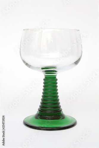 Leinwanddruck Bild Weinglas Isoliert