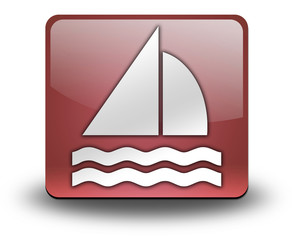 "Red 3D Effect Icon ""Sailing"""