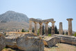 Temple of Apollo at Corinth, with Acrocorinth background