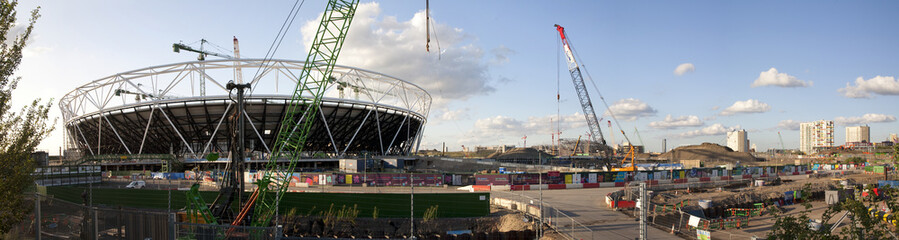 Olympic Stadium Construction Site Panoramic (July 2009)