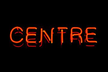 Centre neon sign