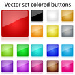 Vector set colored buttons